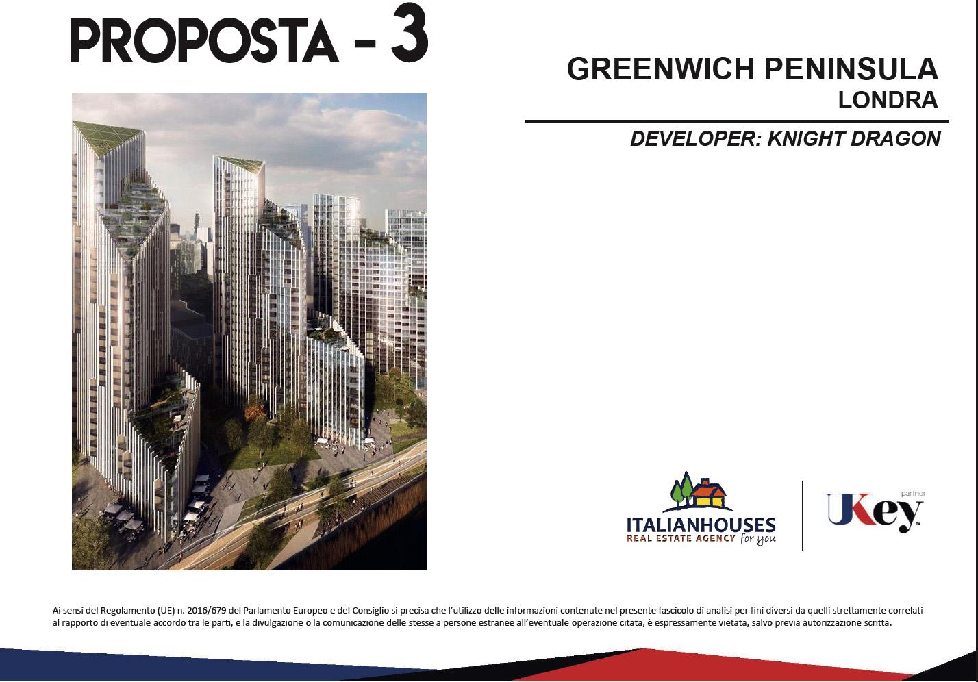 GREENWICH PENINSULA LONDRA – DEVELOPER: KNIGHT DRAGON